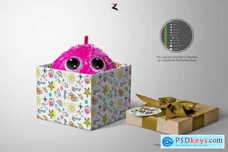 Gift Box Mockup 6K 5570092