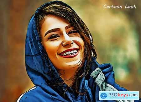 Cartoon Art Photoshop Action 5421572