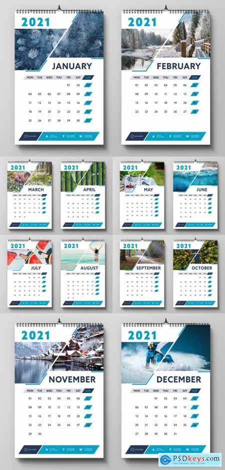 2021 Wall Calendar Layout 399840984