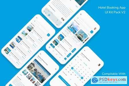 Hotel Booking App UI Kit Pack V2