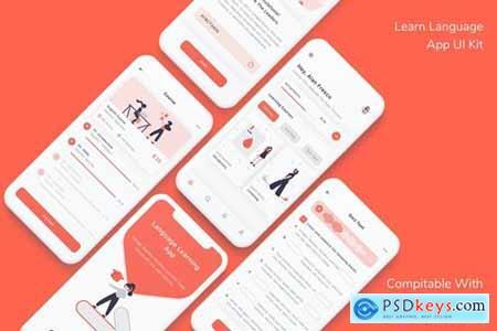 Learn Language App UI Kit