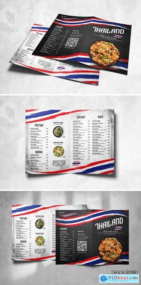 Bifold Food Menu Design A4 & US Letter N47Y5CD