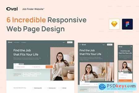 Oval Job Finder Website Design