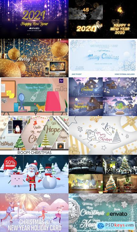 Master Vip AE Merry Christmas & Happy New Year 2021 Free Download After Effects Projects PACK