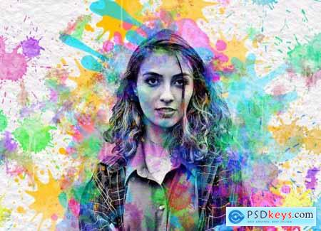 Watercolor Painting Photoshop Action 5641193
