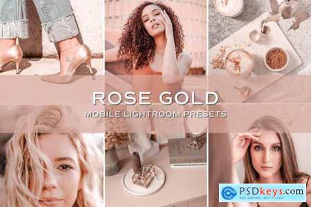 5 Rose Gold Lightroom Presets