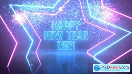 Neon Party New Year Wishes 29794322