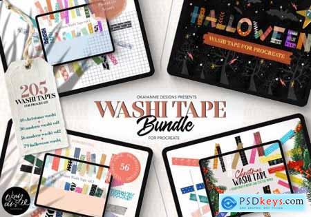 205 Washi Tape Bundle for Procreate 5489982
