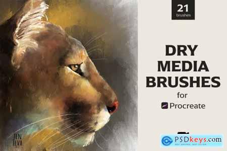 Dry Media Brushes - Procreate 5488435