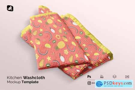 Kitchen Washcloth Mockup 5137747