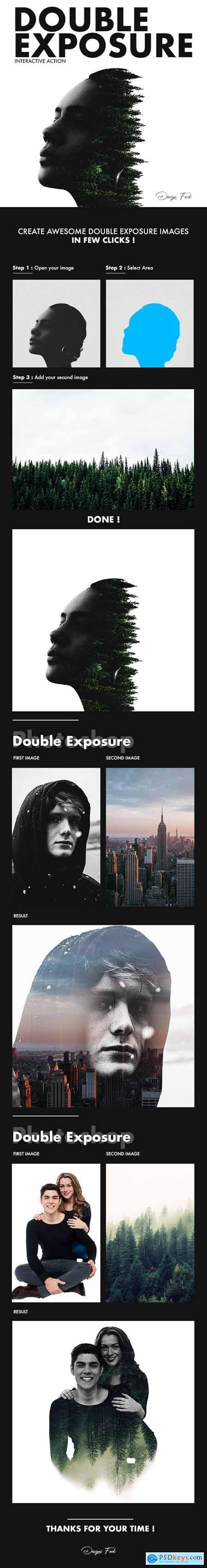 Double Exposure Photoshop Action 29211111