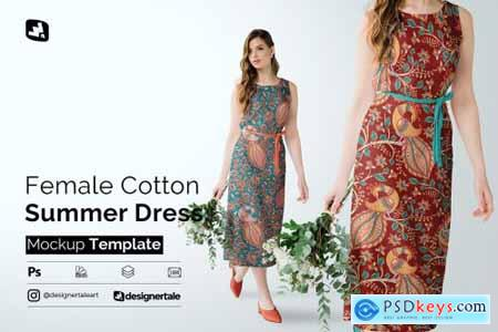 Female Cotton Summer Dress Mockup 5097495