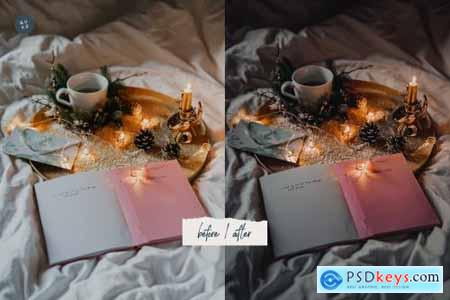 4 Moody Christmas Presets Pack 5679586