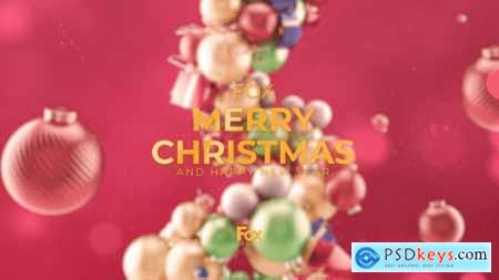 Merry Christmas Elegant Abstract 3D 29780285