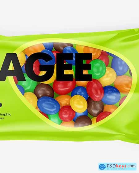 Dragee in a Glossy Package Mockup 71198