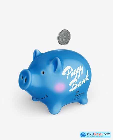 Piggy bank Mockup - Half Side View 71185