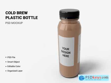 Cold brew plastic bottle mockup
