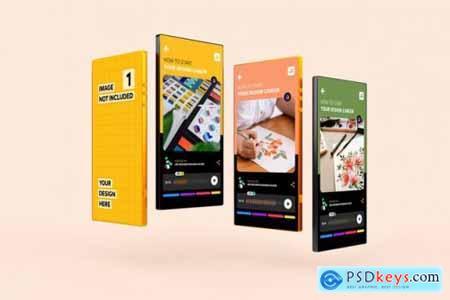Smartphone app promotion mockup