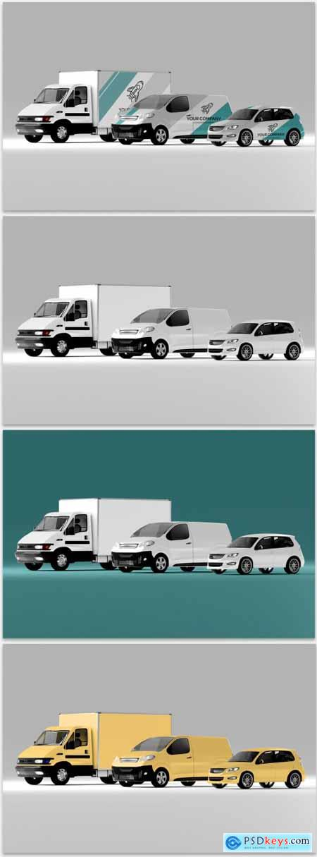Mockup of a Car Collection 398317811
