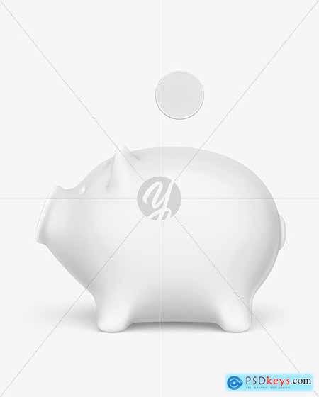 Piggy bank Mockup - Side View 71184