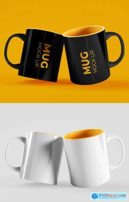 2 Mug Cups Mockup 395379425