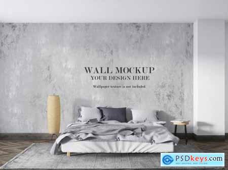 Wall mockup behind