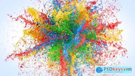 Exploding Paints Logo Reveal 20751062