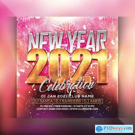 2021 Happy new year party flyer 3
