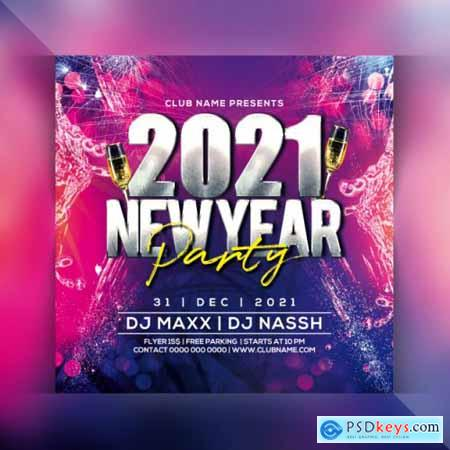 2021 new year party flyer 4