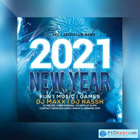 2021 new year party flyer 3