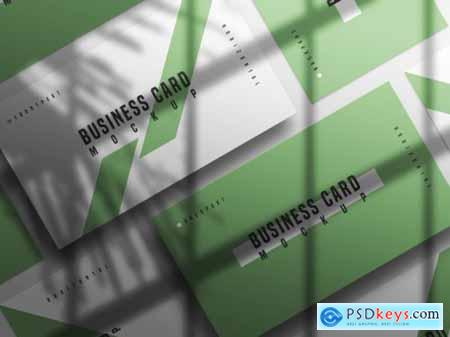 Horizontal and vertical business card mockup