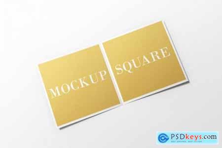 Square bi-fold brochure mockup