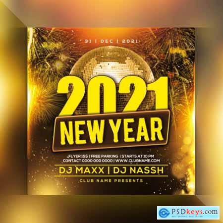 2021 new year party flyer 2
