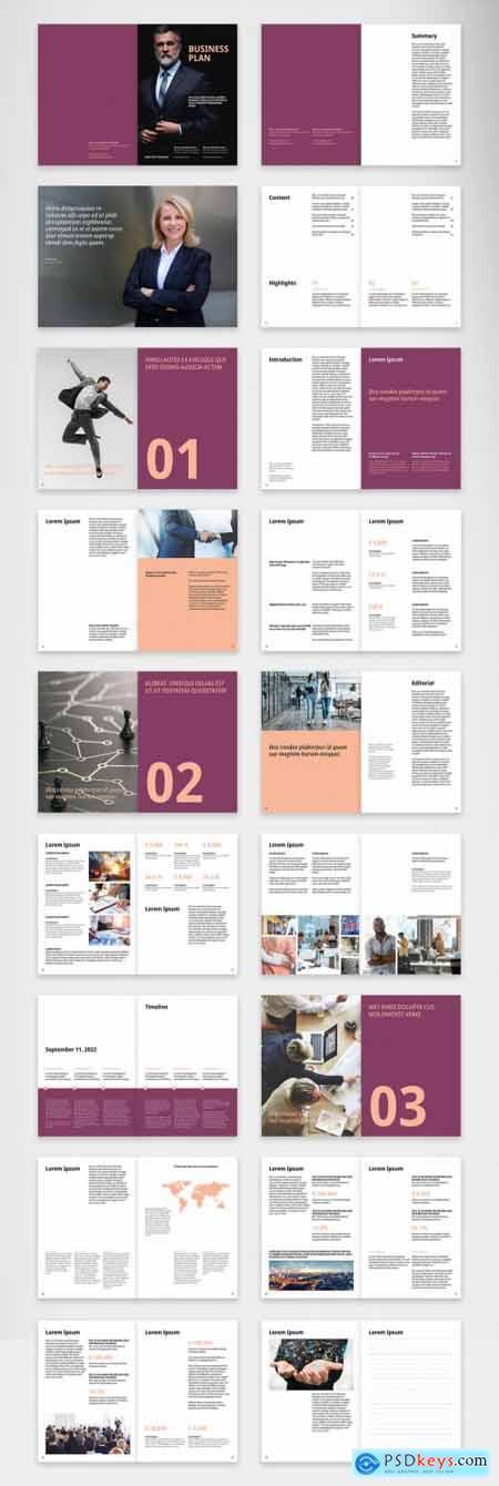 Business Plan Brochure Layout 400842727