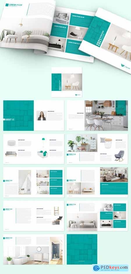 Green Interior Design Brochure Layout 400842765