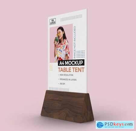 Promotional table tent mockup for a4 display 2