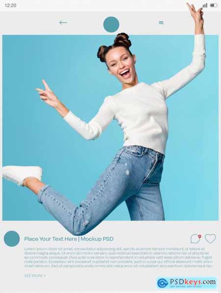 Social Media Frame Effect Mockup 400834594