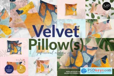 Velvet Pillow 12 Mockups Generator 5466671