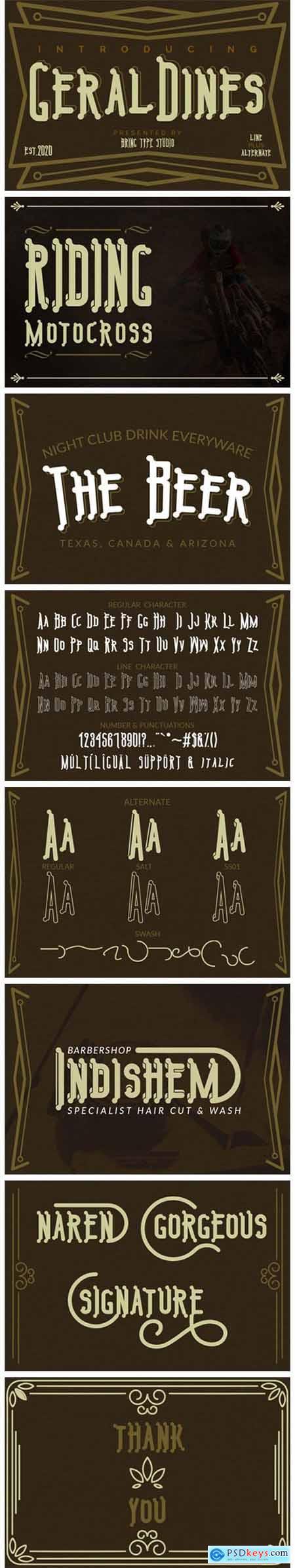 Geraldines Font