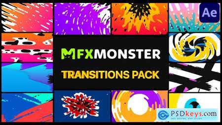 Handy Colorful Transitions - After Effects 29826233