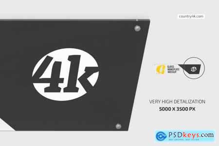 Long Glass Nameplate Mockup Set 5722394