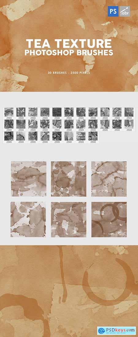 30 Tea Texture Photoshop Stamp Brushes 29575842