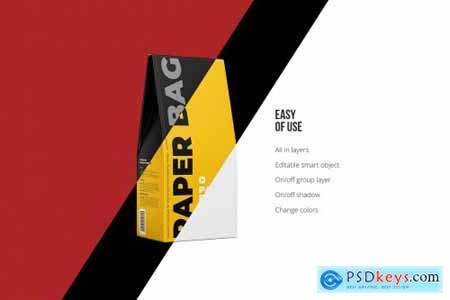 Paper Bag Mockup Half Side view 5225199