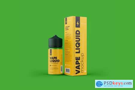 Vape Liquid Packaging Mockup 100ml 5696863