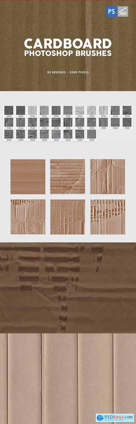 30 Cardboard Photoshop Brushes Vol.1 29575481