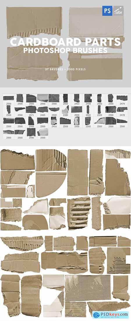 37 Damaged Cardboard Parts Photoshop Stamp Brushes 29575867
