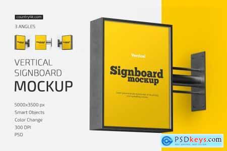 Vertical Signboard Mockup Set 5714886