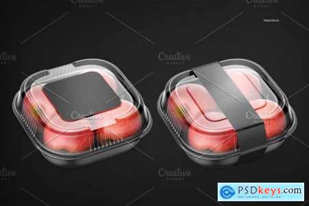 Plastic Container with Apples Mockup 5395363