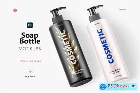 Soap Bottle Mockup - Halfside View 5444713