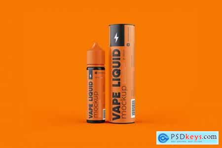 Vape Liquid Packaging Mockup 60ml 5697768